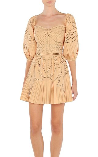 Cotton-Broderie Mini Dress