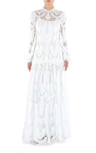 Lace-Trimmed Cotton Gown