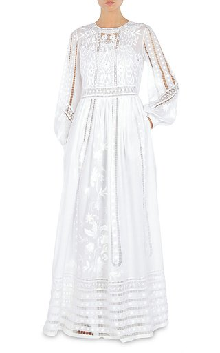 Hand-Embroidered Muslin Gown