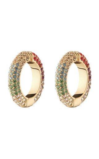 Lili Crystal-Embellished 12K Gold-Plated Ear Cuffs