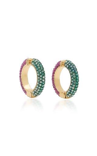 Lili Multi-Stone 12K Gold-Plated Ear Cuffs