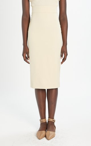 Gervaso Gabardine Pencil Skirt
