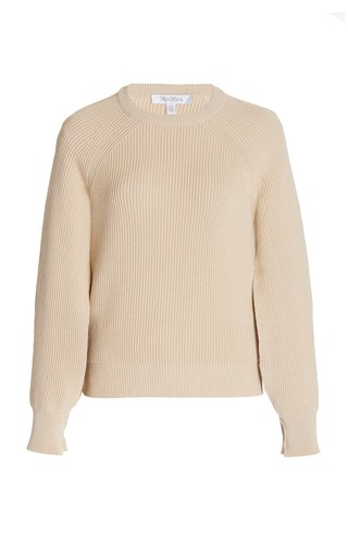 Pepato Cape-Sleeve Ribbed Cotton Sweater