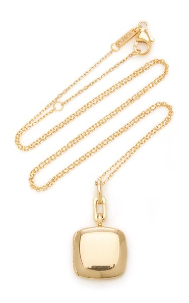 Slim Cusion 18K Gold Locket