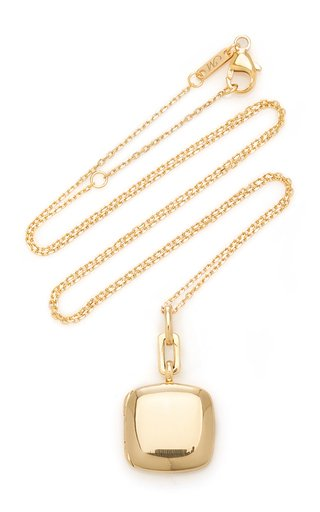 Slim Cusion 18K Gold Locket