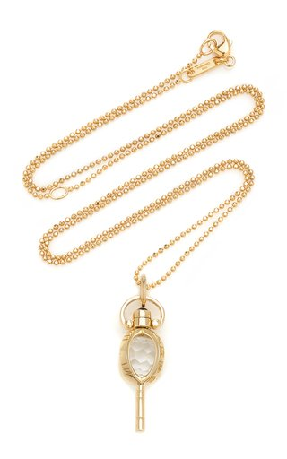 Carpe Diem Mini 18K Gold And Crystal Necklace