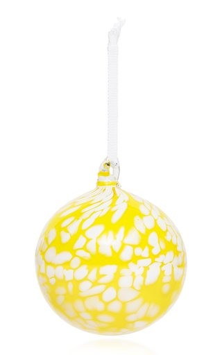 Spotted Glass Holiday Ornament