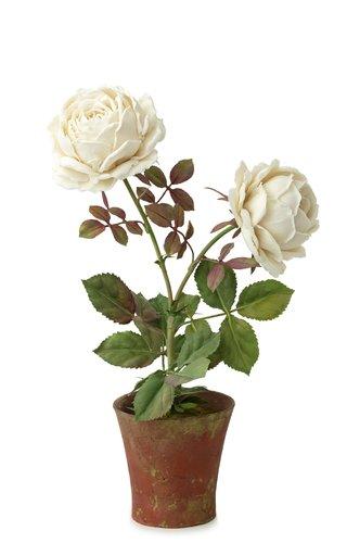 Dual Rose Porcelain Sculpture