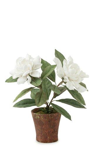 Dual Gardenia Floral Porcelain Sculpture