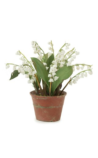 Large Lily of The Valley Porcelain Sculpture
