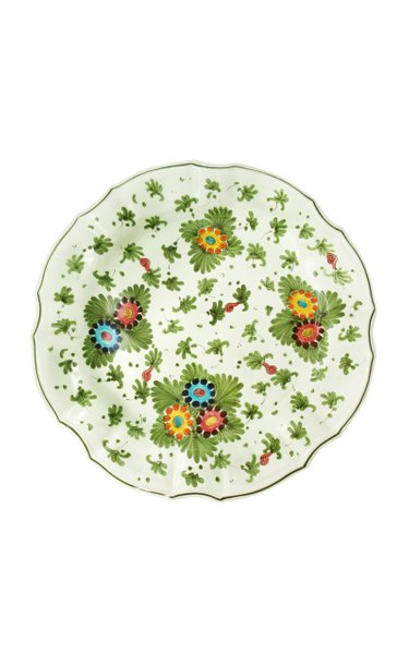 Set-Of-Four Painted Ceramic Dinner Plates