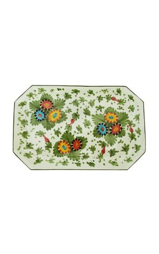 Fiorito by MODA DOMUS, HandHandpainted Ceramic Rectangular Tray