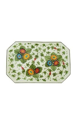 Fiorito by MODA DOMUS, HandHandpainted Ceramic Rectangular Tray