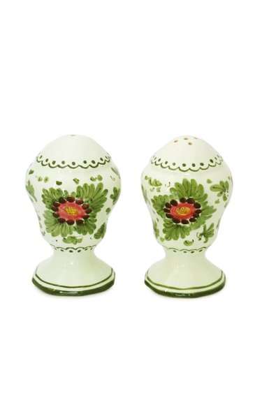 Fiorito by MODA DOMUS, Handpainted Ceramic Salt and Pepper Set