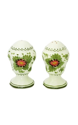 Fiorito by MODA DOMUS, Hand-painted Ceramic Salt and Pepper Set
