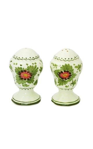Fiorito by MODA DOMUS, Hand-painted Ceramic Salt and Pepper Set