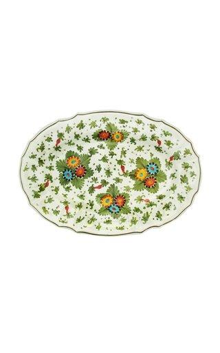 Fiorito by MODA DOMUS, Handpainted Ceramic Oval Tray