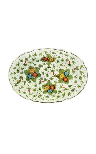 Fiorito by MODA DOMUS, Hand-painted Ceramic Oval Tray