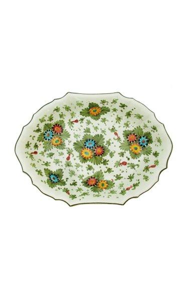 Fiorito by MODA DOMUS, Handpainted Ceramic Oval Bowl