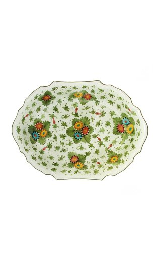 Fiorito by MODA DOMUS, Hand-painted Ceramic Oval Bowl