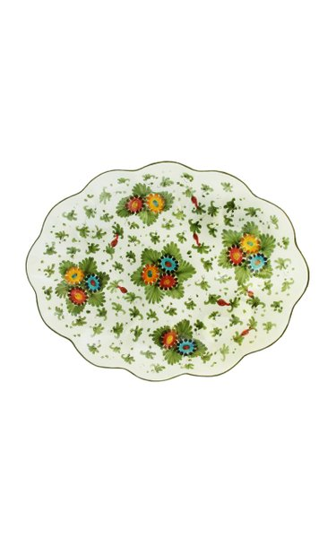 Fiorito by MODA DOMUS, Handpainted Ceramic Scalloped Tray