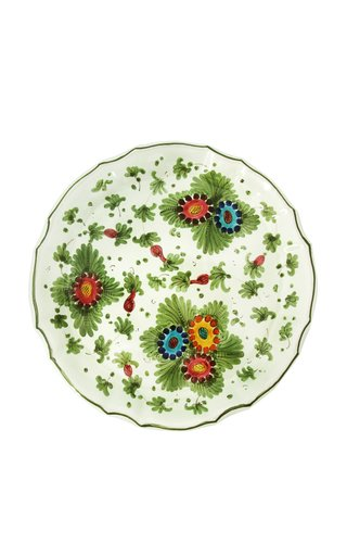 Fiorito by MODA DOMUS, Set-Of-Four Hand-painted Ceramic Dessert Plates