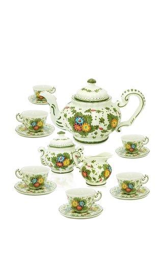 Fiorito by MODA DOMUS, Hand-painted Ceramic Tea Service Set
