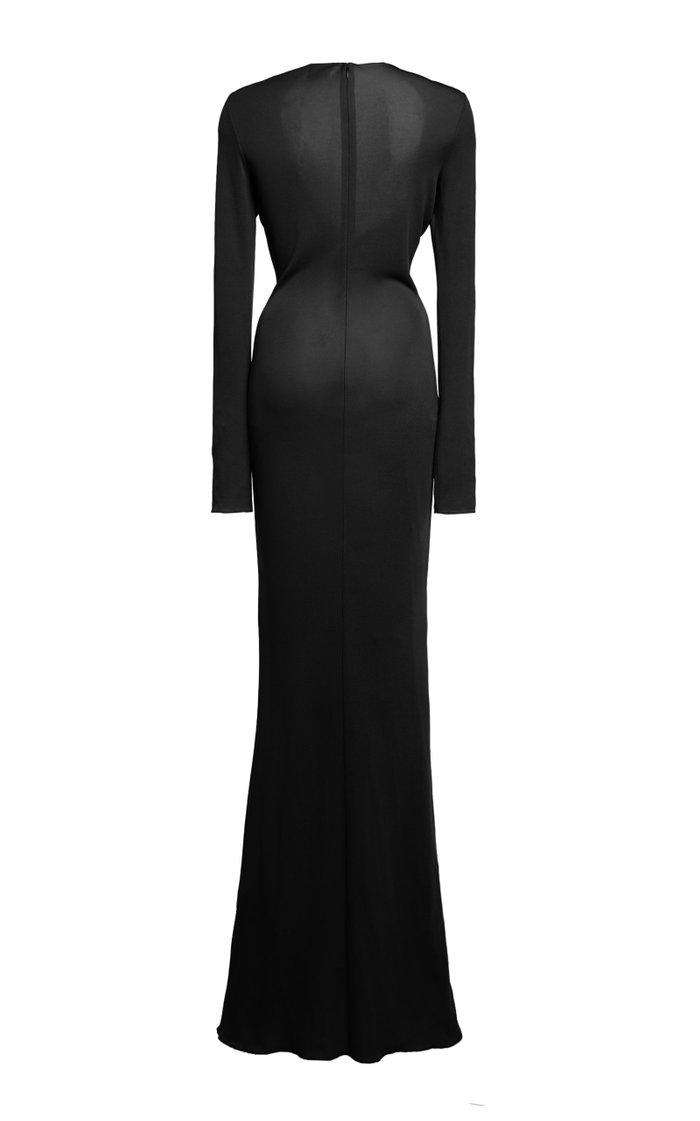 Knot Crepe-Jersey Dress