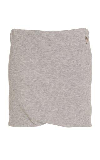 Ezra Draped Cotton-Blend Jersey Mini Skirt
