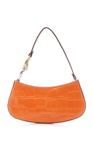 Ollie Croc-Effect Leather Shoulder Bag
