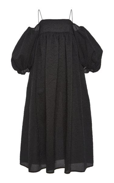 Holly Cloque Midi Dress