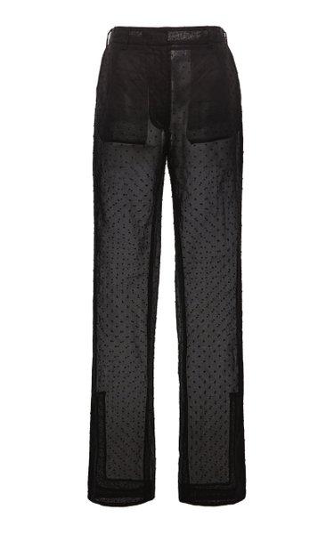 Elisabeth Organza Straight-Leg Pants