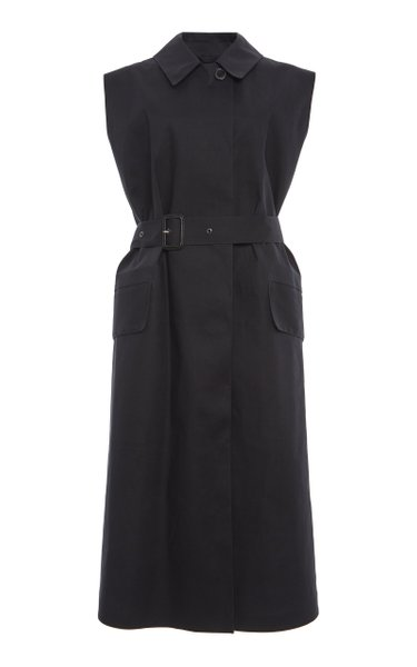 Haven Belted Cotton-Blend Wrap Vest Crafted by Mackintosh