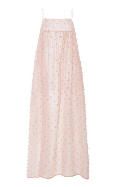 Kamille Embellished Silk Overlay