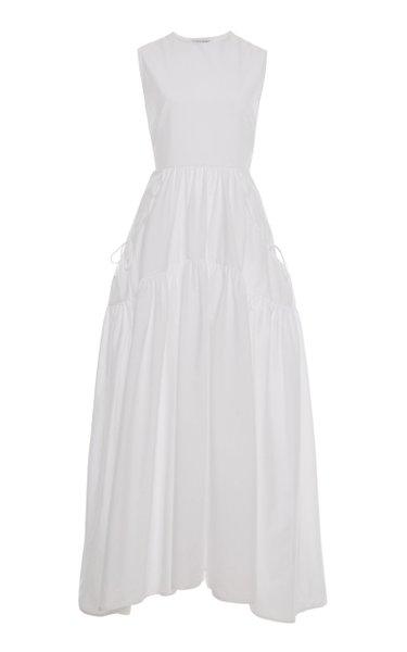Hay Open-Back Cotton Maxi Dress