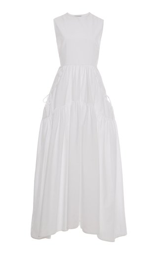 Hay Open-Back Cotton Maxi Dress