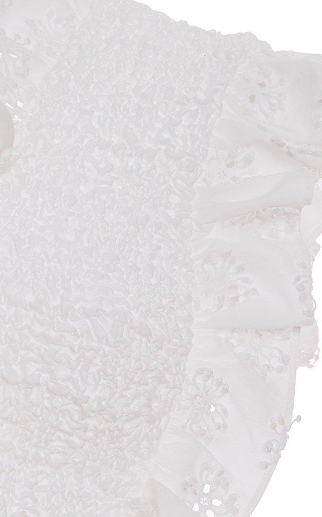 Michaela Smocked Cotton-Blend Top