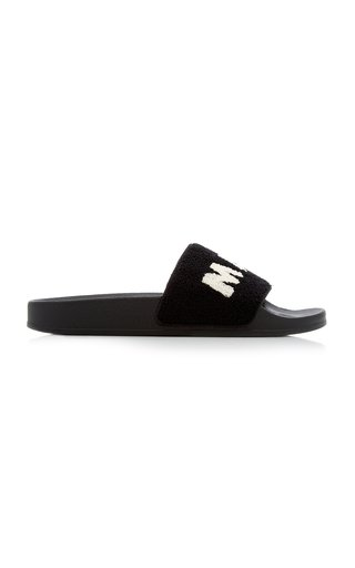 Ciabatta Logo Wool-Blend Terry Slide Sandals