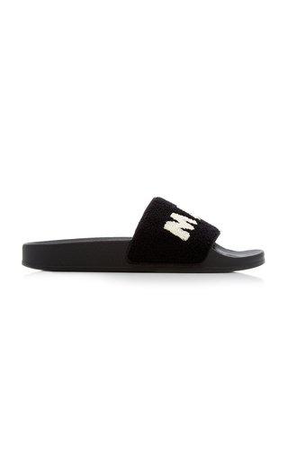 Ciabatta Logo Wool-Blend Terry Slide Sandals