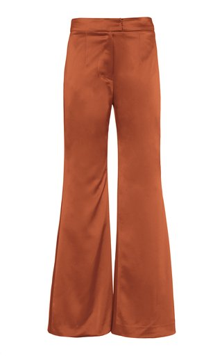 Julianne Satin Wide-Leg Trousers