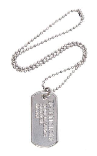 Punk Tag Silver-Tone Necklace