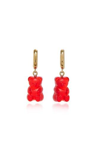 Gummy Bear Resin, Gold-Tone Earrings