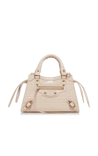 Neo Classic City Mini Croc-Effect Leather Bag