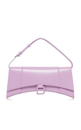 Hourglass Sling Leather Shoulder Bag
