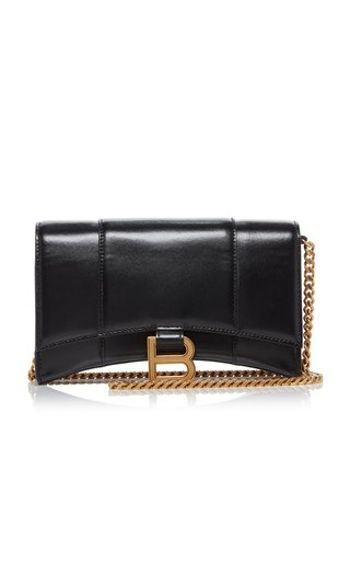 Hourglass Leather Chain Wallet