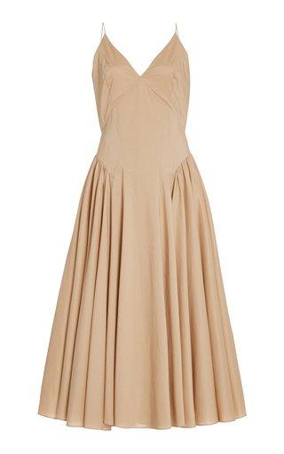 Solene Pleated Organic Cotton Dress