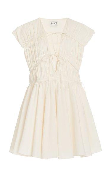 Clara Tie-Detail Organic Cotton Dress