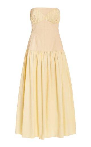 Lauryn Organic Cotton Strapless Maxi Dress