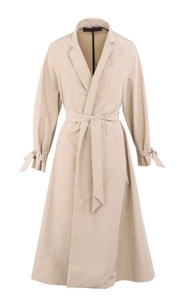 Poplin Midi Wrap Trench Dress