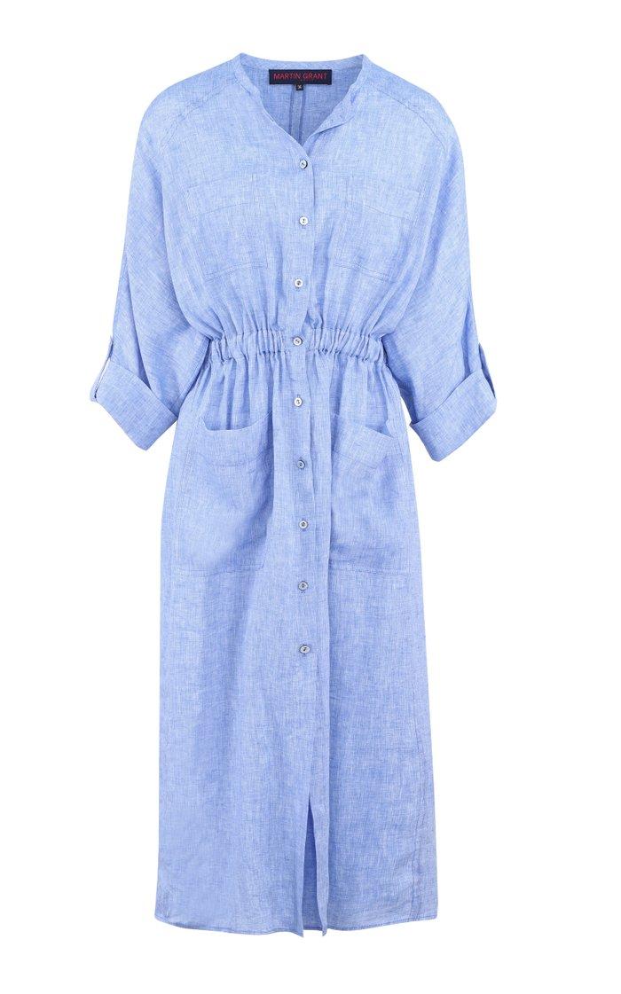 Oversized Linen Shirt Dress